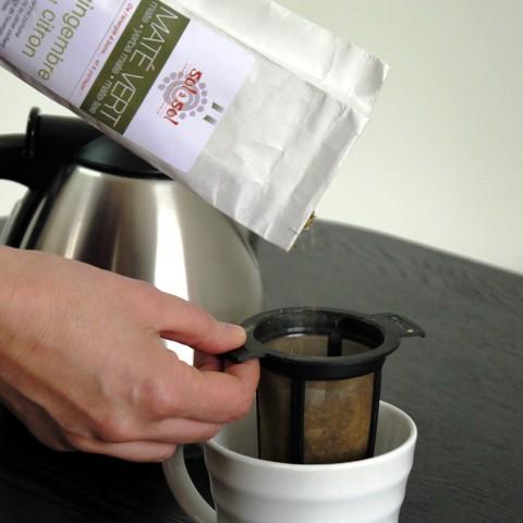 Filtre à thé permanent FINUM M noir